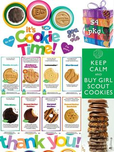 thank you cards girl scout cookies clip art clipart free clipart rh pinterest com girl scout cookie clip art images 2014 Girl Scout Cookie Clip Art