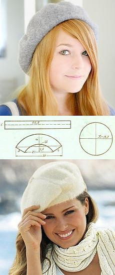 instructions on making a true french beret including the fact they are in french however my rusty french has gotten an upgrade this past year sewing is far easier than knitting to translate directions - PIPicStats Clothes Crafts, Sewing Clothes, Clothing Patterns, Sewing Patterns, Fleece Hats, Hat Tutorial, Do It Yourself Fashion, Techniques Couture, Diy Couture