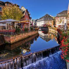 Wasserfall in Saarburg, nicht weit weg von der Burg, die ihr aus Sternenmond kennt