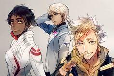Pokemon GO Candela, Blanche, and Spark