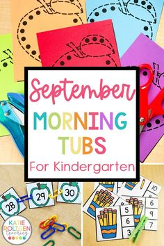 Kindergarten morning tubs can be a fun and easy way to start the day in your primary classroom. This low-prep, engaging pack includes 20 morning work tub activities for kindergarten for the month of September. There are interactive, hands-on activities to practice foundational literacy, math, and fine motor skills. Your kindergarten students will love working with their September morning tubs!