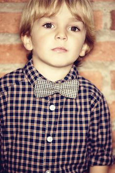 little gentleman.... I'd love for my baby boy to have big brown eyes and golden blonde hair :)