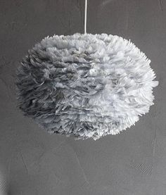 VITA GREY FEATHER LIGHT SHADE | Eos Large