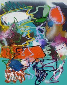 Dance little Sister, schilderij van Marten Alkema | Abstract | Modern | Kunst