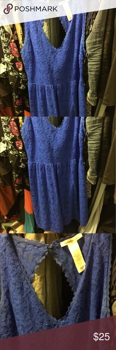 GORGEOUS LACE COBALT BLUE DRESS This Laudry by Shelli Segal dress is perfect for weddings, parties and lots of other summer events! It's stretchy and the back is gorgeous!! Laundry by Design Dresses