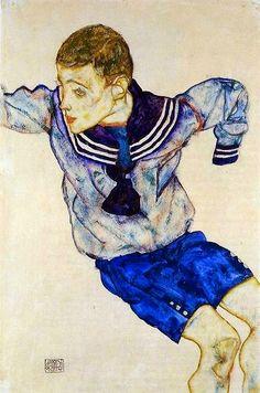 Egon Schiele, 1890-1918. AutricheLe garçon en costume de marin, 1913
