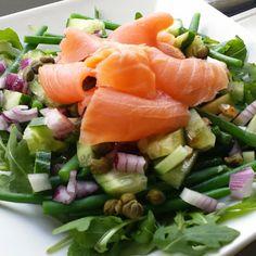 Life is what you're cooking : Lunchsalade met gerookte zalm en wat over brood..
