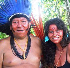 Ana Mendina with Yanomami spokesperson Davi Kopenawa.