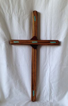 Zebrawood with Turquoise inlays 22x12 by ArtistryGrace on Etsy, $175.00
