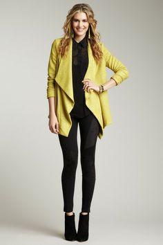 Drapey yellow jacket
