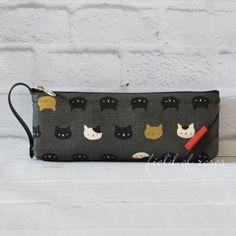 Pencil Case Cat Faces Imported Zipper Pouch
