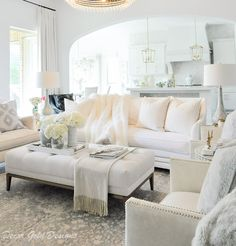 Elegant living room white furnishings elegant design room decor elegant How to Avoid Design Mistakes - Decor Gold Designs White Living Room Set, Cute Living Room, Living Room Themes, Elegant Living Room, Beautiful Living Rooms, White Rooms, Living Room Colors, Living Room Sets, Living Room Designs