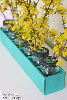 How to Make: Mason Jar Flower Box Centerpiece