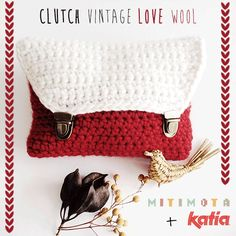 Craft Lovers ♥ Bolso clutch vintage por MitiMota | http://www.katia.com/blog/es/craft-lovers-bolso-clutch-vintage-mitimota/