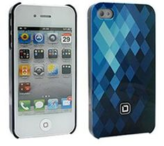 Dicota Blue Hard Snap-On Cover for Apple iPhone 4/4S