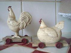 coq et poule à roulette