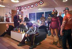Badass Digital Illustrations by Patrick Brown | Abduzeedo | Graphic Design Inspiration and Photoshop Tutorials