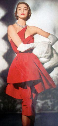 Jean Patchett - 1950's - Vogue US  Repinned by www.fashion.net