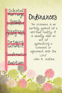 LDS Handouts: Man.1 Les.17-Purposes of Covenants and Ordinance