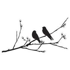 Love Bird Silhouette Branch Birds on a branch wall sticker
