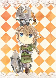 The Legend of Zelda : Twilight Princess / Link, Wolf Link, and Midna / 「ゼルダログ」/「李緒」のイラスト [pixiv] [09]