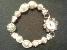 Pearls and Swarovski Crystals Watch w/ by CreationsThatSizzles, $39.99