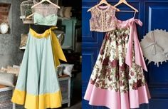 Simple Blue and Yellow & Purple Floral Lehenga | Less is More – Simple Lehengas in Rich Fabrics
