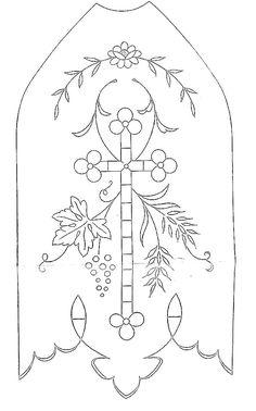 Croix -cross-cruzar- Kreuz - Broderie d'Antan