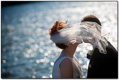 Love the wind-blown veil shot.
