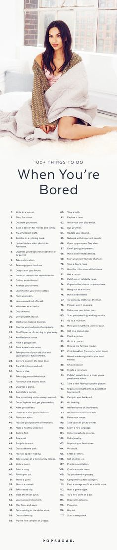 Popsugar's 117 things to do when you are bored – Gamu