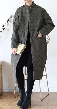 2020green down jacket woman casual stand collar women parka warm Casual winter outwear