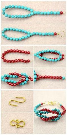 Jewelry step by step tutorial bracelet jewelry DIY bracelet, # bracelet . - Jewelry step by step tutorial bracelet jewelry DIY bracelet, - Diy Bracelets To Sell, Diy Jewelry To Sell, Jewelry Making Tutorials, Jewelry Crafts, Beaded Bracelets, Gems Jewelry, Sell Diy, Making Bracelets, Jewelry Box