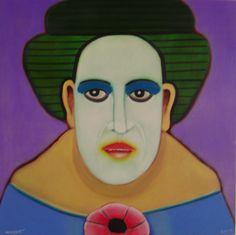 La Cantante de opera 2009 (Óleo sobre tela) 90 x 90 cm.