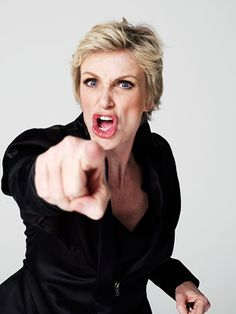 Jane Lynch~The chick you love to hate on Glee, she makes that show funny as hell! Jane Lynch, Glee Cast, Thing 1, The Villain, Celebs, Celebrities, Funny People, Comedians, Actors & Actresses