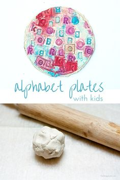 Do your kids love to play with clay? Try making these air dry clay alphabet plates. Perfect project for the littlest hands.