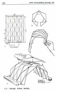 Step by step instructions how to make origami A Mouse. vector illustration Origami is de Architecture Pliage, Architecture Origami, Concept Architecture, Architecture Design, Masterplan Architecture, Bauhaus Architecture, Library Architecture, Museum Architecture, Pavilion Architecture