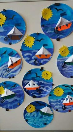 Terrific Free of Charge ocean Crafts for Kids Tips Returning to classes can be quite a scary time period for any child. It is really a difference toget Kindergarten Art, Preschool Crafts, Diy Crafts For Kids, Fun Crafts, Art For Kids, Arts And Crafts, Boat Crafts, Craft Ideas, Ocean Crafts