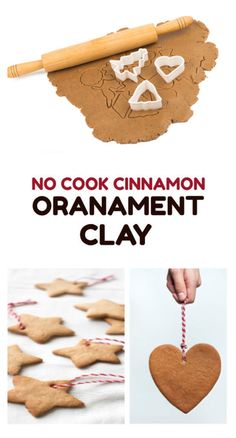Cinnamon Ornament Recipe 1 cup of flour cup of salt cup of cinnamon cup of very warm water Other Materials Cookie cutters Wax paper Acrylic paints (optional) Method Combine all ingredients in a bowl and mix well. Noel Christmas, Christmas Crafts For Kids, Christmas Activities, Diy Christmas Ornaments, Christmas Projects, Holiday Crafts, Holiday Fun, Christmas Decorations, Christmas Music