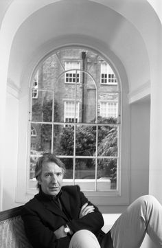 Alan Rickman - nice watch and London bay window. Alan Rickman Always, Alan Rickman Severus Snape, Miss U So Much, Ares, Colin Firth, The Expendables, Hugh Jackman, Best Actor, Famous Faces