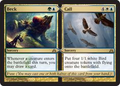 Beck and Call from Dragon's Maze http://www.examiner.com/article/beck-and-call-from-dragon-s-maze-split-cards-return-and-fuse-revealed #MTG #MTGDGM #Games #VideoGames #article #geek #beck #call #magicthegathering #examinercom