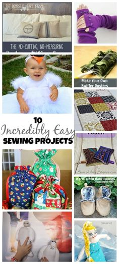 These 10 incredibly easy sewing projects are perfect for quick projects or beginners. (Great gifts!)