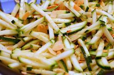 Paleo side dish: zucchini and almond saute from smitten kitchen.  Wonderful texture and flavor.  A keeper.