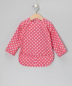 Loving this Pink Polka Dot Bib - Infant, Toddler & Girls on #zulily! #zulilyfinds