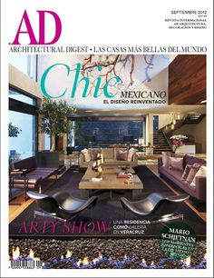 Architectural Digest Magazine (Mexico) September 2012