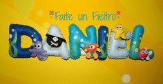 FAITE UN FIELTRO Nombre cosido a mano en fieltro, pide el tuyo personalizado!! http://faiteunfieltro.blogspot.com.es/