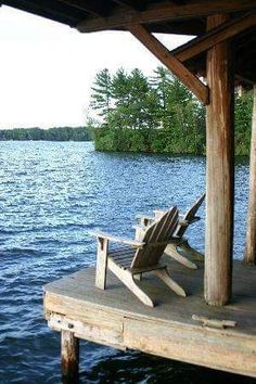 I need a lake house with this backyard Lake Cabins, Cabins And Cottages, Lakeside Living, Outdoor Living, Lakeside Lodge, Peaceful Places, Beautiful Places, Amazing Places, Haus Am See