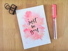 Calligraphy Quotes Doodles, Brush Lettering Quotes, Brush Pen Calligraphy, Calligraphy Cards, How To Write Calligraphy, Hand Lettering Quotes, Bullet Journal Quotes, Bullet Journal Writing, Watercolor Quote