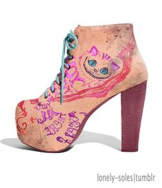 Cheshire Cat Boots - Lonely Soles