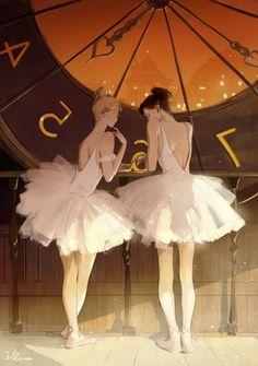 Ballet Illustration, Character Illustration, Ballet Art, Ballet Girls, Anime Dancer, Little Girl Dancing, Fantasy Paintings, Digital Art Girl, Anime Art Girl