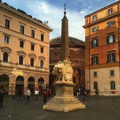 Piazza della Minerva #roma  Have a nice week  by isamuko